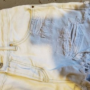 Light blue highrise shorts